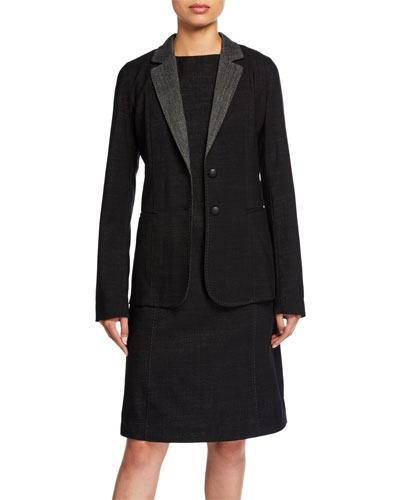 Plus Size Rozella Dual Weave Suiting Jacket