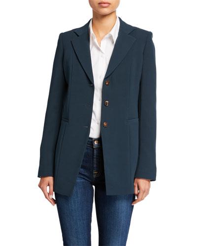 Plus Size Jaqueline Finesse Crepe Blazer