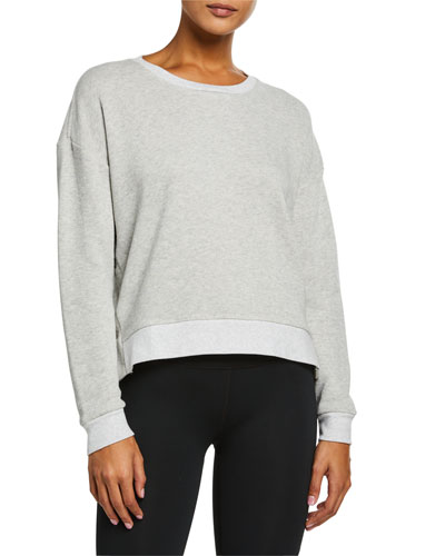 Snapped Long-Sleeve Crewneck Top