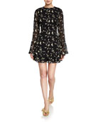 La Maison Talulah Night Spark Long-Sleeve Mini Dress