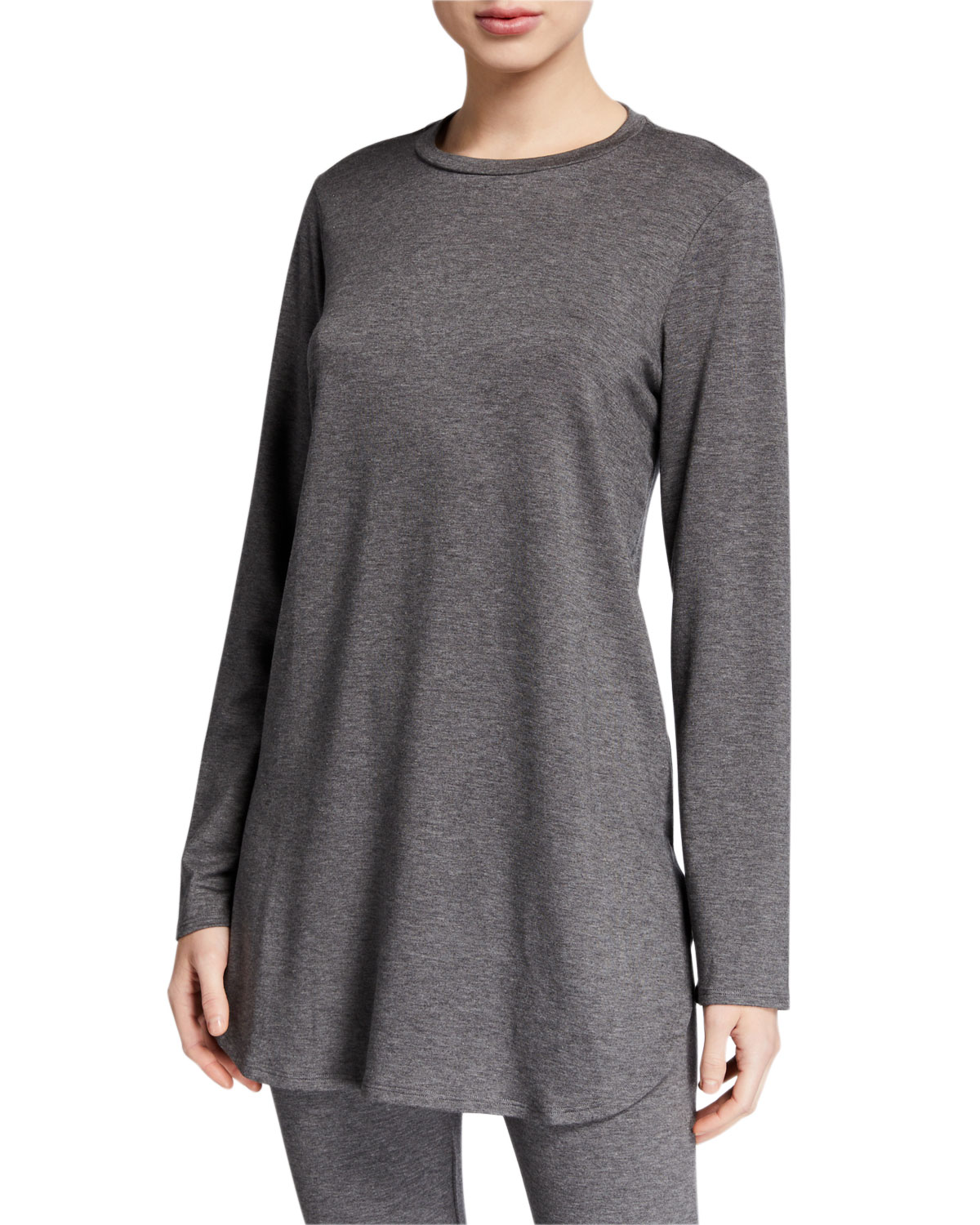 Eileen Fisher T-shirts PETITE STRETCH TERRY LONG-SLEEVE SHIRTTAIL LONG TUNIC