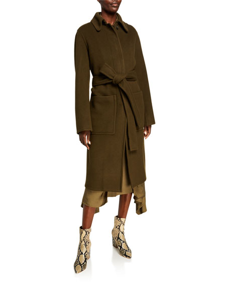 Vince Patch Pocket Wool Long Coat