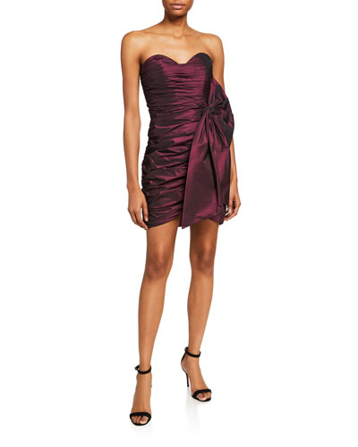 Sweetheart Bustier Ruched Mini Dress