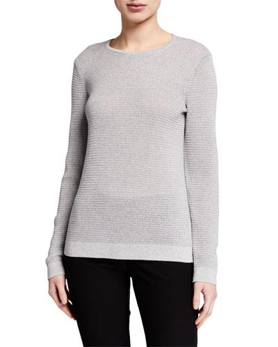 Merino Wool Sparkle Crewneck Sweater