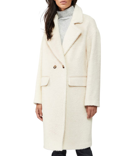 Faux Sheepskin Button Jacket