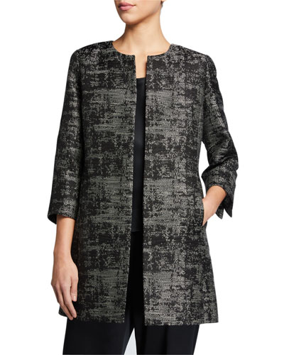 Moonlight Jacquard 3/4-Sleeve Jacket