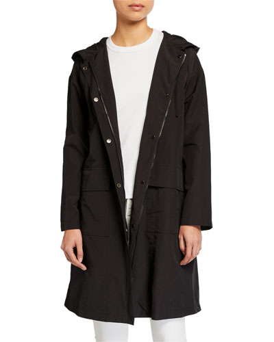 Organic Cotton/Nylon Hooded Coat