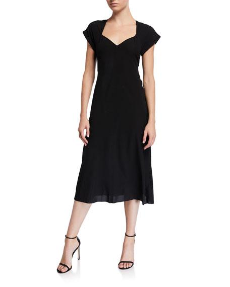 Rag & Bone Danise Gathered Short-Sleeve Midi Dress