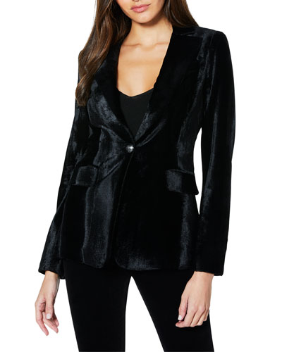 Eli Velvet Single-Button Jacket