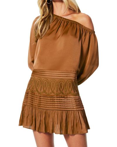 Denali Embroidered Chiffon Skirt