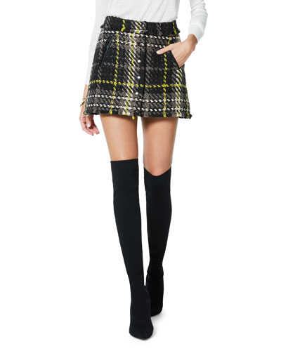 Elias Plaid Tweed Mini Skirt