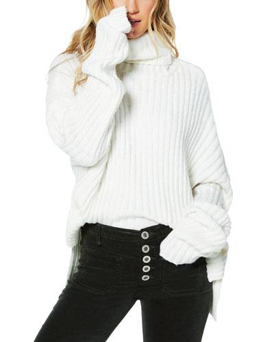 Shirley Oversized Ribbed Turtleneck Sweater