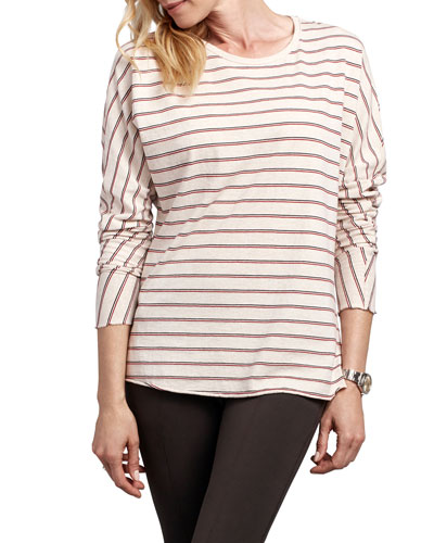 Striped Continuous Sleeve Cotton Tee