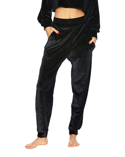 Josie Sparkle Velvet Jogger Pants