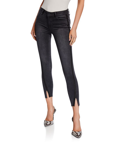 Verdugo Ankle Skinny Jeans w/ Twisted Seams