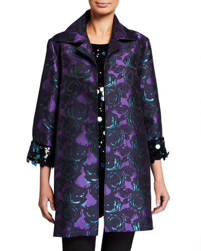 Plus Size Bella Brocade Topper Jacket