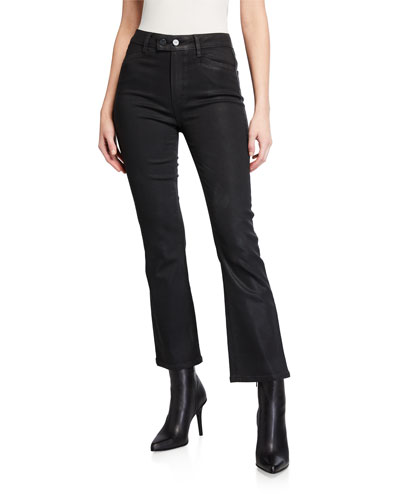 Claudine Luxe Coated High-Rise Flare Jeans