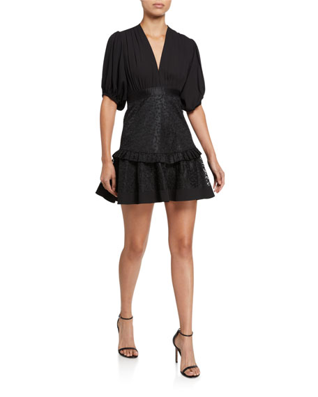 Alexis Estella Short-Sleeve Flounce Dress