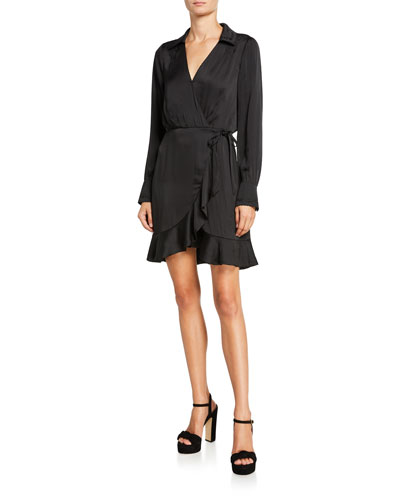 Parisa Long-Sleeve Wrap Dress