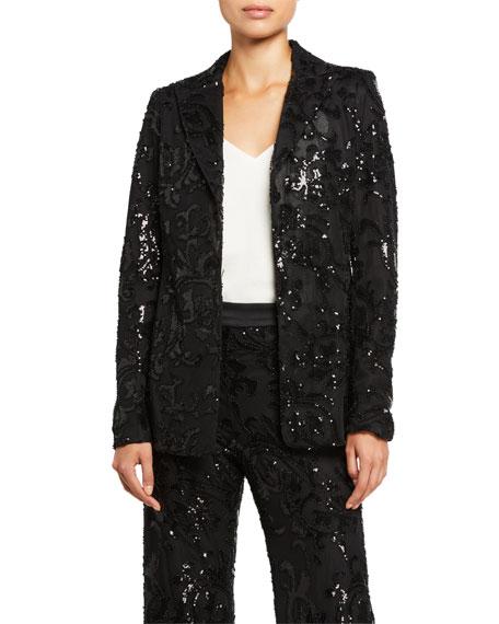 Alexis Firdas Sequined Single-Button Jacket
