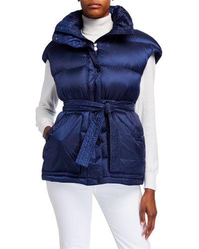 Oversized Puffer Vest, Navy