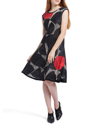 Petite Be Bold Printed Sleeveless Dress