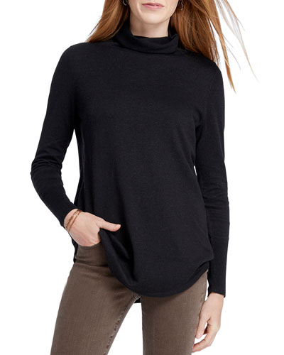 Petite It Item Long-Sleeve Turtleneck Top