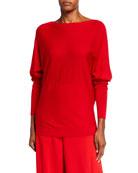 Lafayette 148 New York Bateau-Neck Italian Merino Wool/Silk