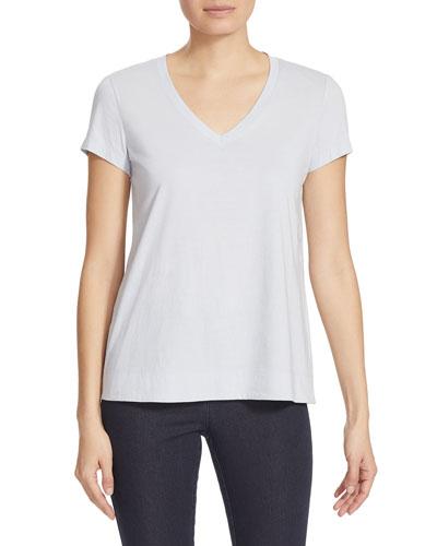V-Neck Short-Sleeve Modern Cotton Jersey Tee
