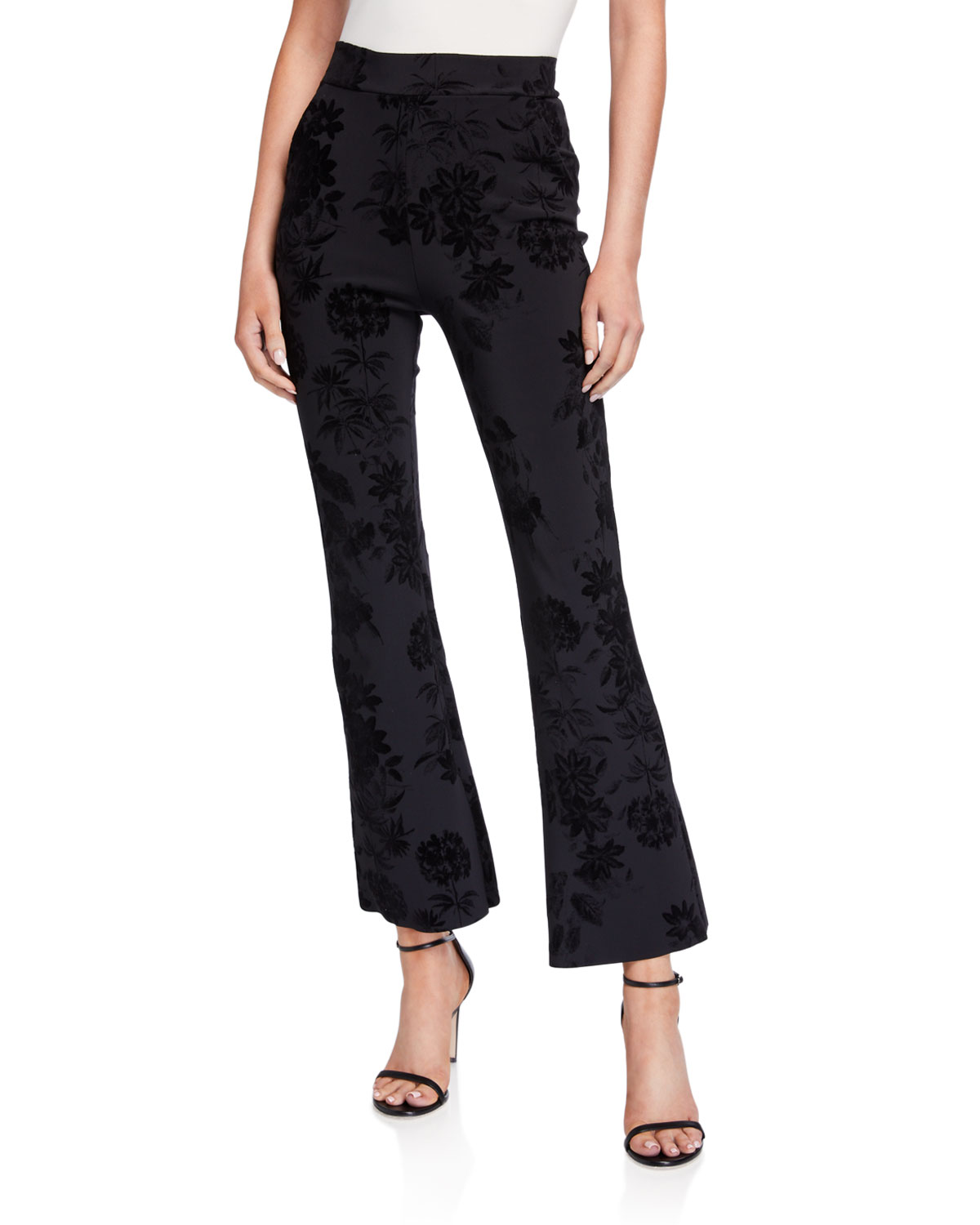 Chiara Boni La Petite Robe Pants NICHE FLORAL PRINTED BOOT-CUT ANKLE PANTS
