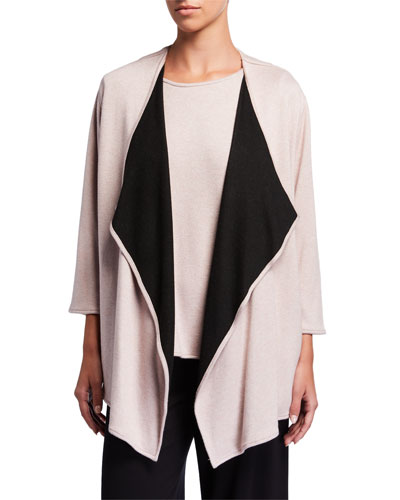 Plus Size Gemini Cozy Knit Mid Cardigan
