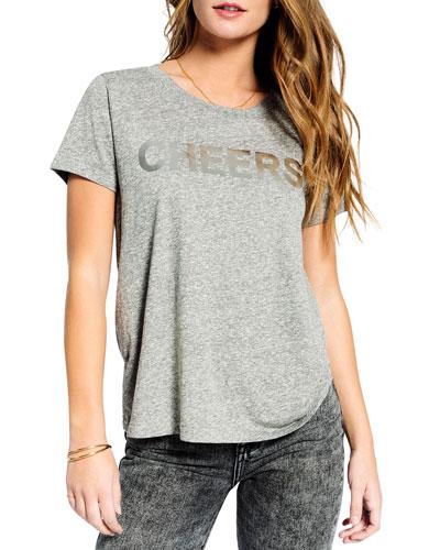 Cheers Crewneck Short-Sleeve Heathered Tee