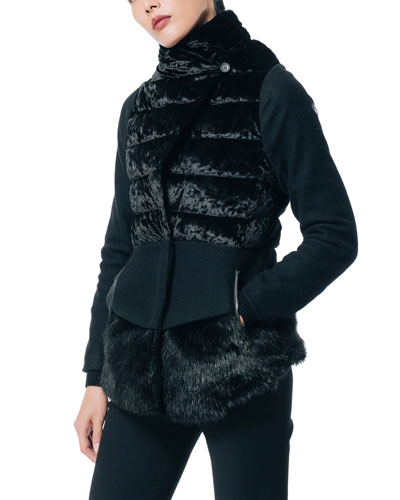 Expression Faux Fur Down-Fill Coat