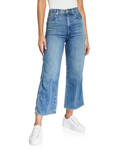 Ava Crop High-Rise Wide-Leg Jeans