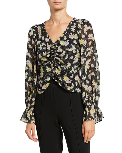 Kimberly Ruched Long-Sleeve Top