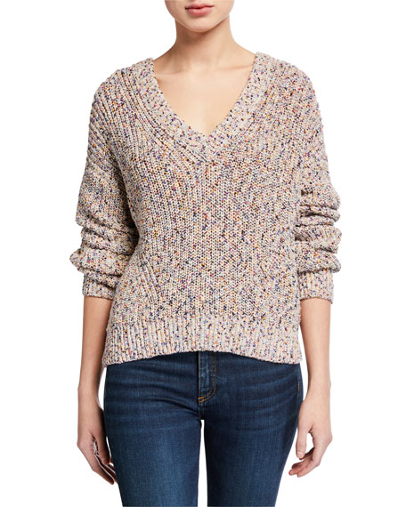 Veronica Beard Crosby Speckled Sweater