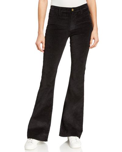 Le High Flare Velveteen Pants