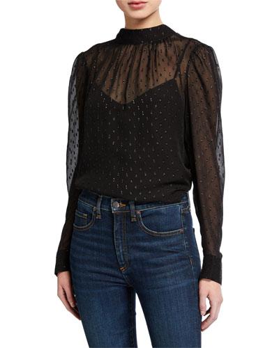 Black jersey top Modern style Loose fitting style Silk top medium Silk long sleeve Ooak  top Long sleeve shirt Wearable art top