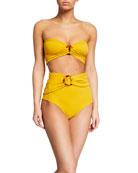 Johanna Ortiz Mar Chocoano Bandeau Bikini Top