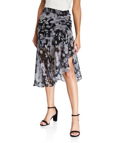 Fiona Ruched Floral Skirt
