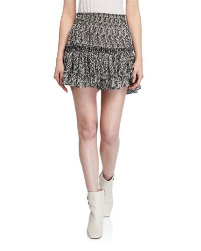 Willa Smocked Mini Skirt