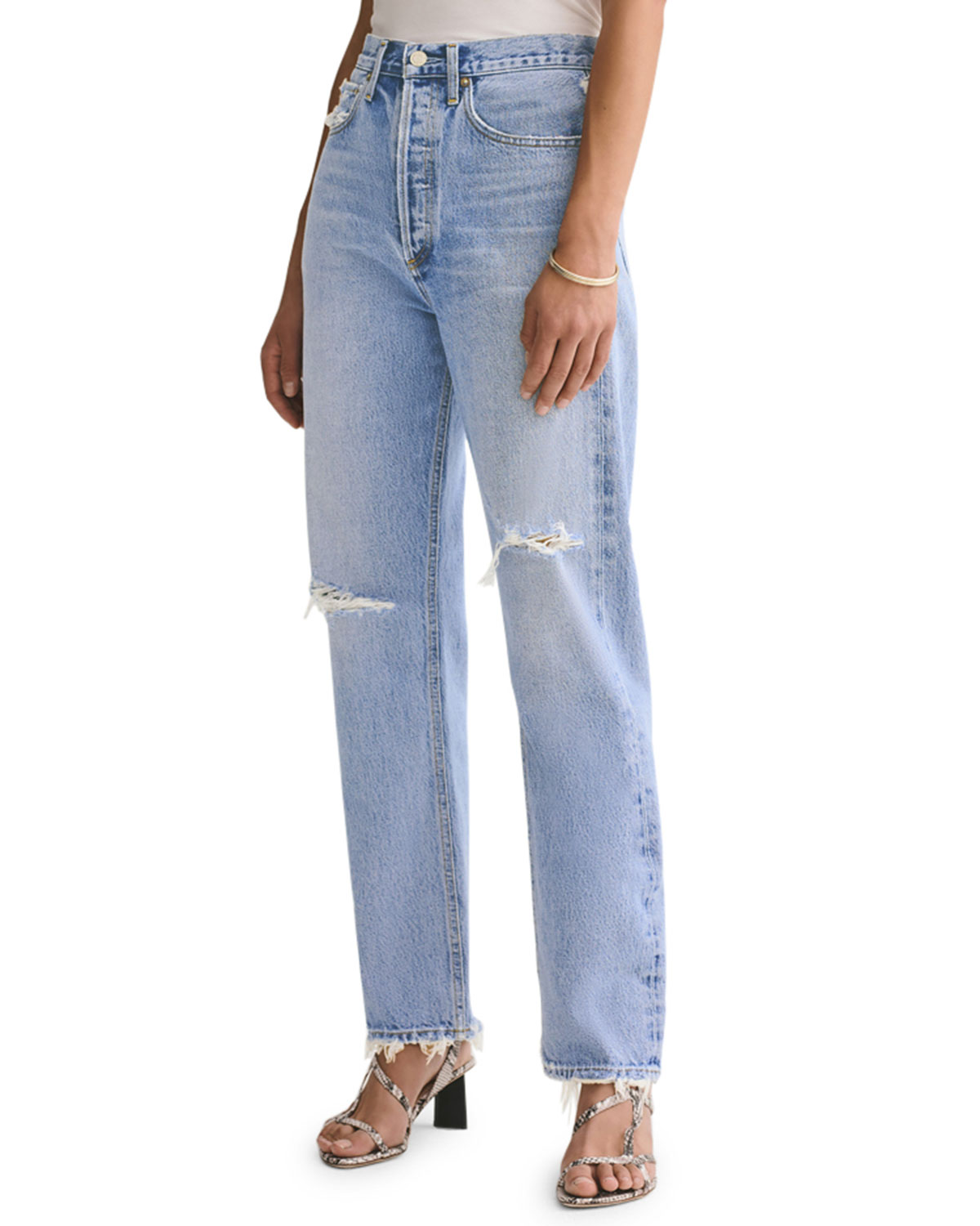 Agolde Denims 90S DISTRESSED BOYFRIEND JEANS
