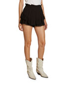 Etoile Isabel Marant Janis Tiered Paperbag-Waist Shorts