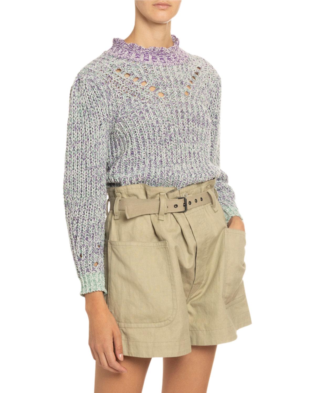 Etoile Isabel Marant Sweaters LOTIYA COTTON TURTLENECK SWEATER