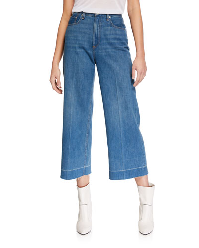 Ruth Super High-Rise Cropped Wide-Leg Jeans