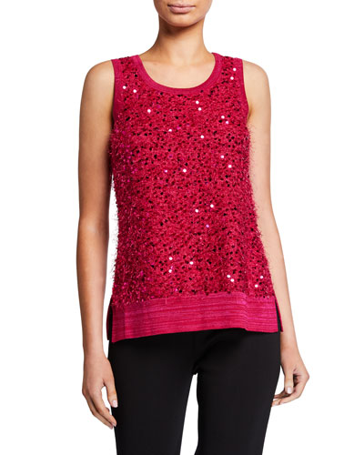 Scoop-Neck Sequin Tank