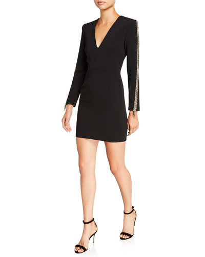 Beckett V-Neck Long-Sleeve Sheath Dress