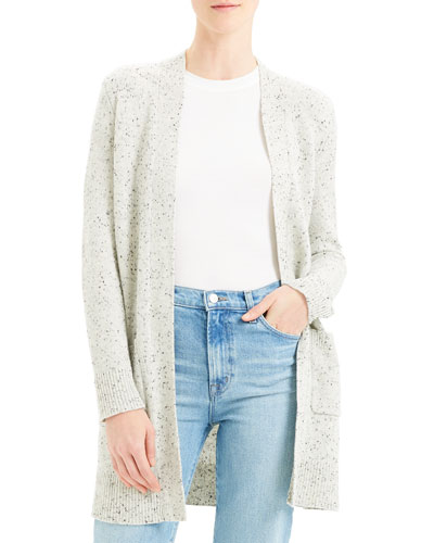 Open-Front Belted Cardigan