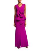 Chiara Boni La Petite Robe V-Neck Sleeveless 3D