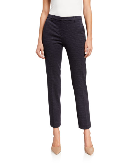 Theory Tailored Trellis Knit Trousers